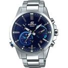 CASIO 卡西歐 EDIFICE 藍牙智慧太陽能手錶-藍/52.1mm