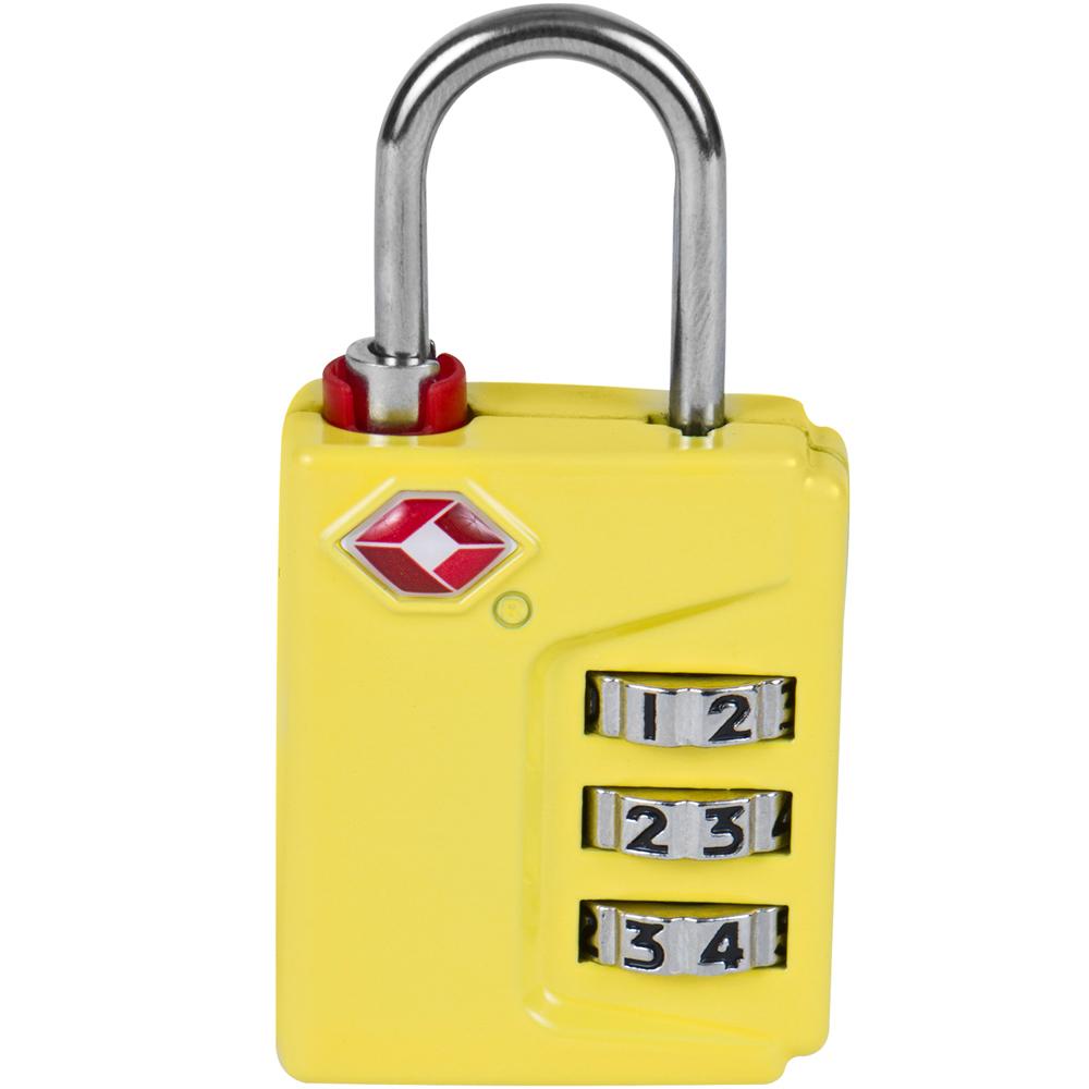 TRAVELON TSA三碼密碼鎖(黃)