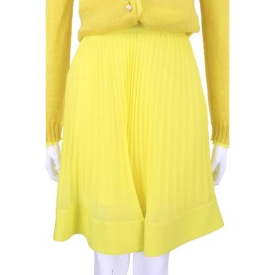 PHILOSOPHY 黃色紗質百摺及膝裙