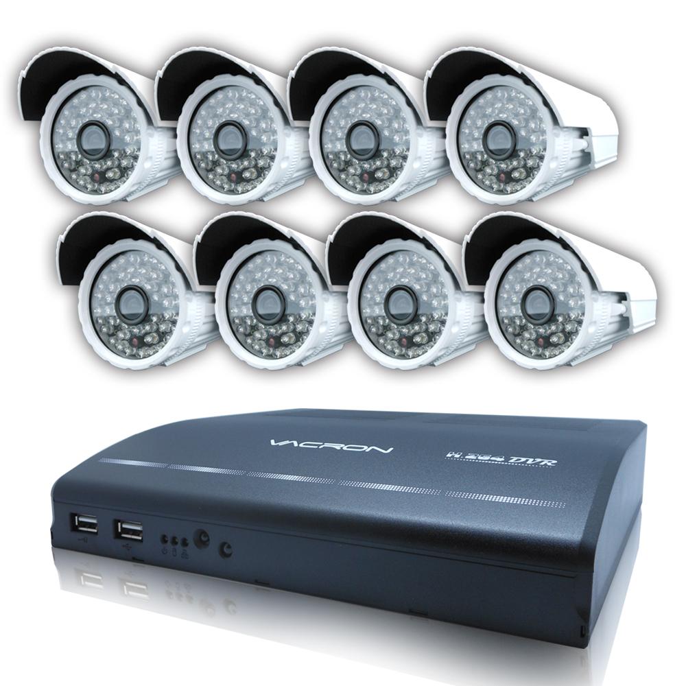 【CHICHIAU】8路960H遠端監控套組(含SONY 700高解夜視鏡頭x8)