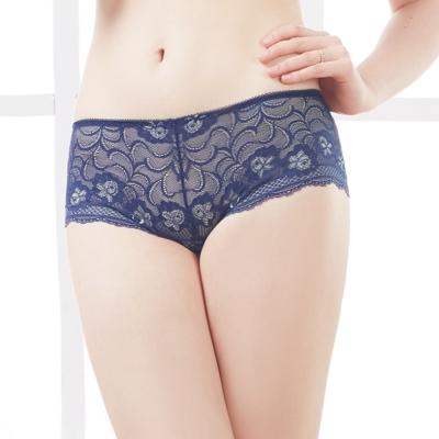 可蘭霓Clany  沉著暮色蕾絲M-XL內褲 理智藍