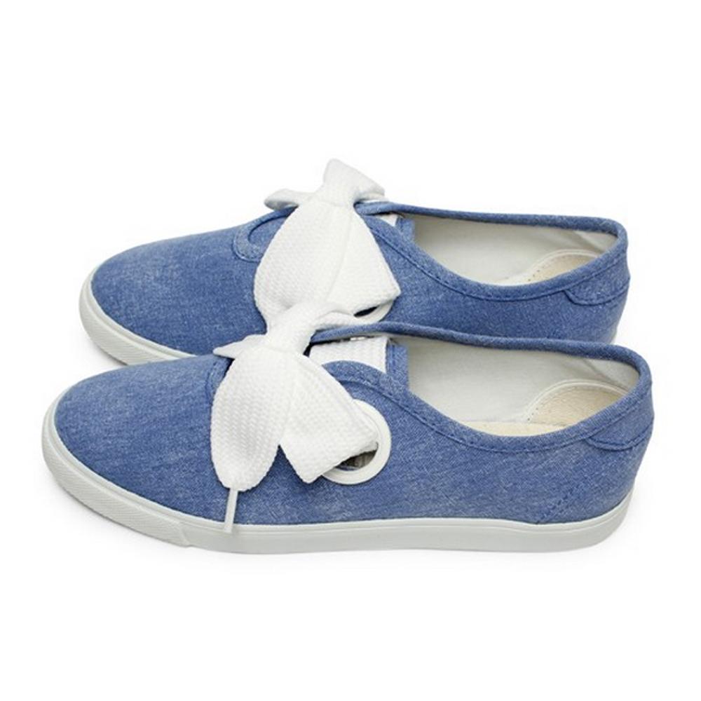 FUFA  MIT 粗條鞋帶休閒鞋 $690 (T80)-牛仔藍
