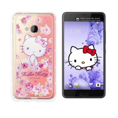 三麗鷗授權 Hello Kitty HTC U Play 空壓氣墊保護殼(玫瑰k...