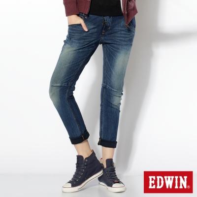 EDWIN AB褲 迦績褲JERSEYS3D牛仔褲-女-石洗綠