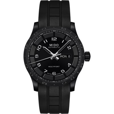 MIDO Multifort 先鋒系列時尚機械腕錶-黑/42mm