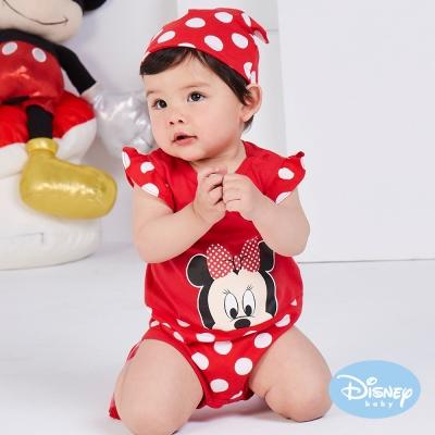 Disney Baby 經典迪士尼附帽連身裝 紅色