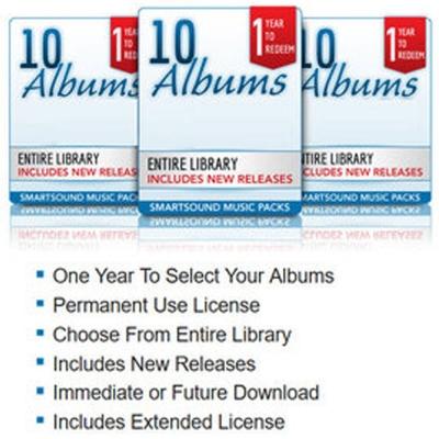 Smartsound Music Pack (版權音樂) 10 Albums (下載版)