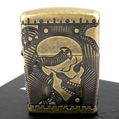 【ZIPPO】美系~Steampunk-蒸汽龐克骷髏圖案打火機