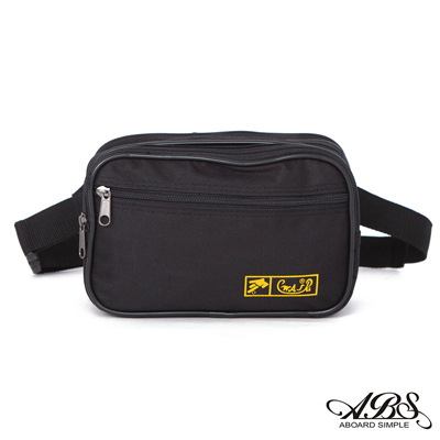 ABS愛貝斯 台灣製造 輕量防潑水旅行兩用式腰包 側背包(黑)709