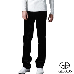 GIBBON 頂級經編絨直紋保暖長褲‧墨黑色31~40