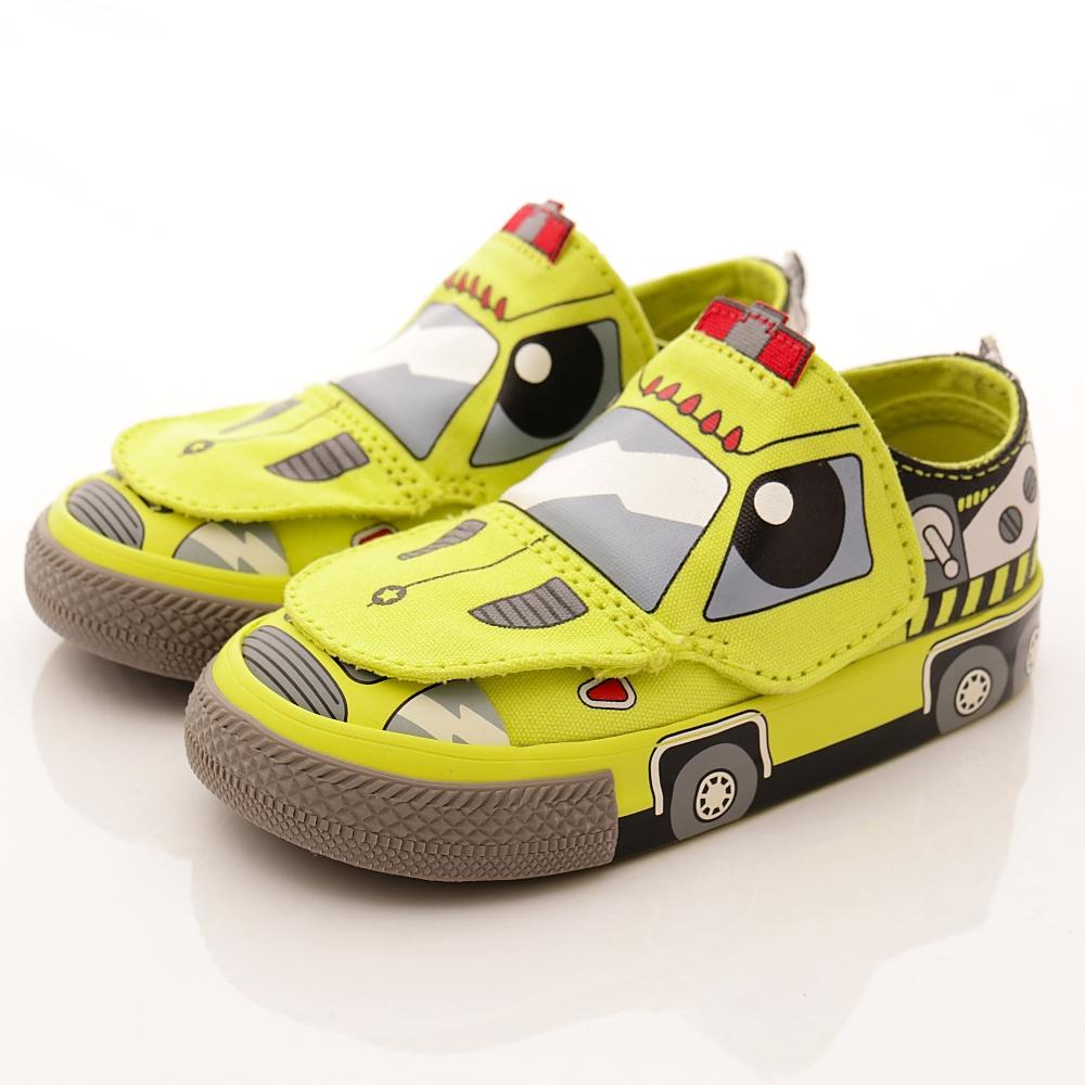 converse童鞋 救援車童趣設計款 58191黃(小童段)T2