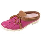 (男/女)Ponic&Co美國加州環保防水洞洞半包式拖鞋-桃紫色