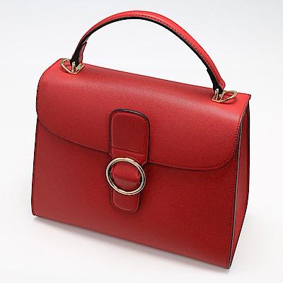 Charmii Chic 扣環造型兩用方包 紅色
