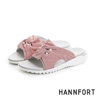 HANNFORT Ultra Flex 3D條紋珍珠涼鞋-女-活力紅