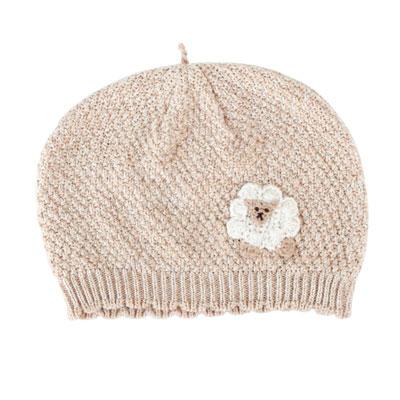 【Hoppetta*】有機棉綿羊針織帽