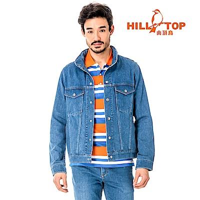 【hilltop山頂鳥】男款吸濕排汗抗UV牛仔外套S02M91-淺藍