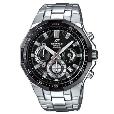 EDIFICE俐落帥氣科技感立體多角切割框賽車錶(EFR-554D-1A)-黑/47.1mm