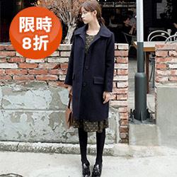 韓國秋冬經典毛呢大衣