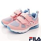 FILA頂級童鞋 針織彈力氣墊慢跑款FO25S-591粉(中大童段)