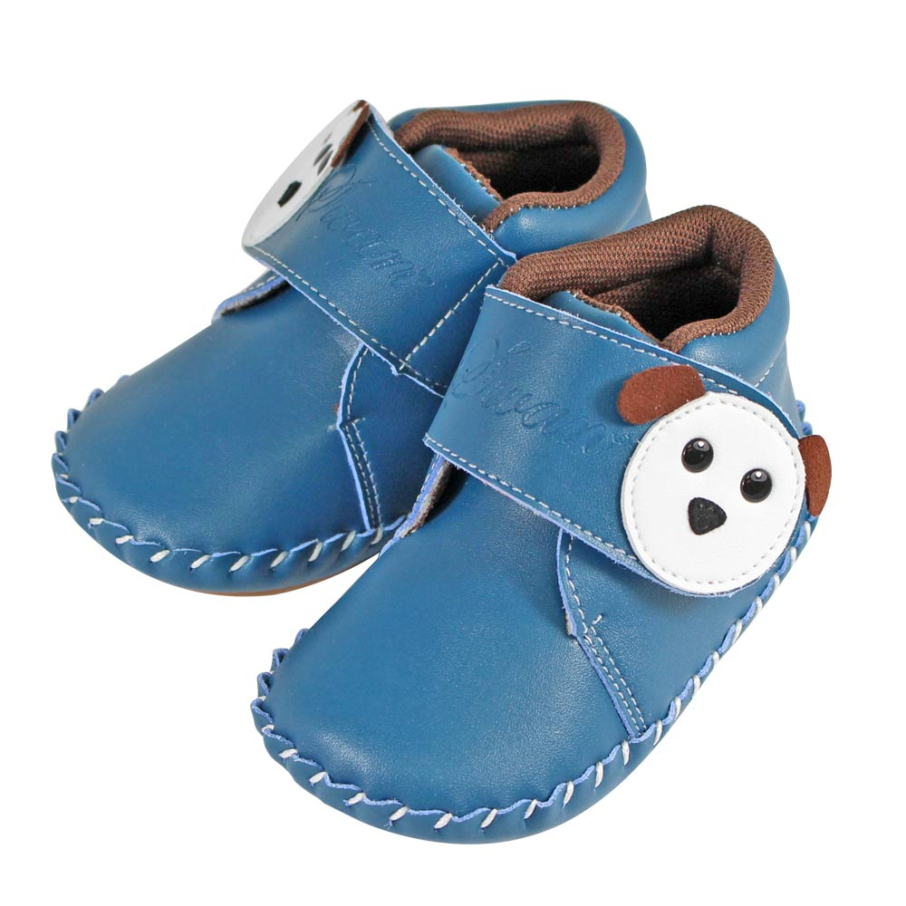 Swan天鵝童鞋-狗狗小短靴學步鞋1502-藍