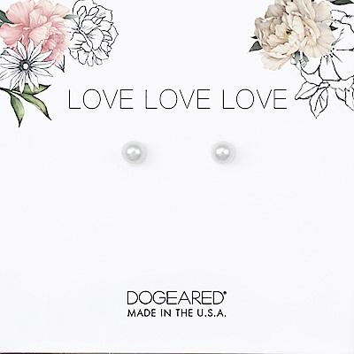 Dogeared love 珍愛系列 小白珍珠耳環 925純銀 附原廠盒