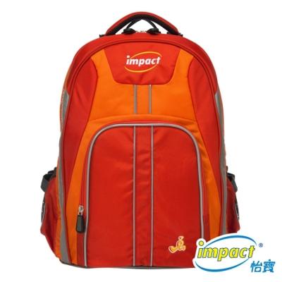 IMPACT 怡寶博學調整型護脊書包-橘紅 IM00221OG