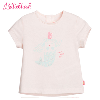 Billyblush美人魚印花粉色T恤
