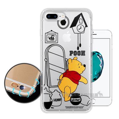 迪士尼授權 iPhone 8 Plus/7 Plus 簡約線條 空壓安全手機殼(...