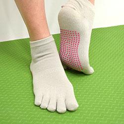 女性瑜珈運動止滑襪-急速配