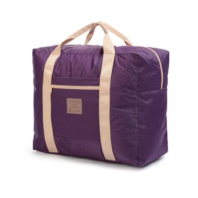 PUSH! 可折疊便攜式旅行包 35升P88-1紫色