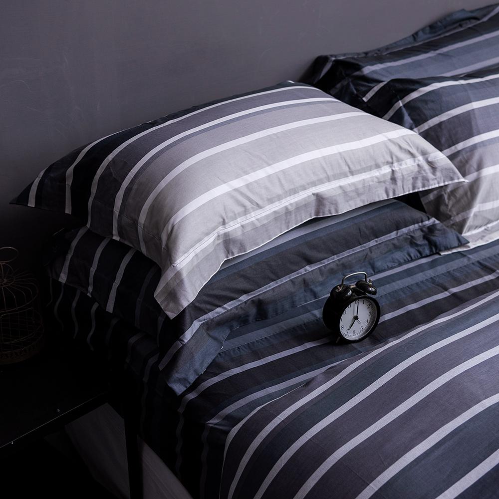 OLIVIA   城市藍調 灰  雙人床包枕套三件組 歐枕
