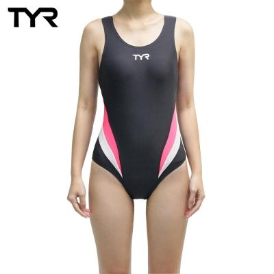美國TYR女用修身款泳裝Delora Aeroback Gray 台灣總代理