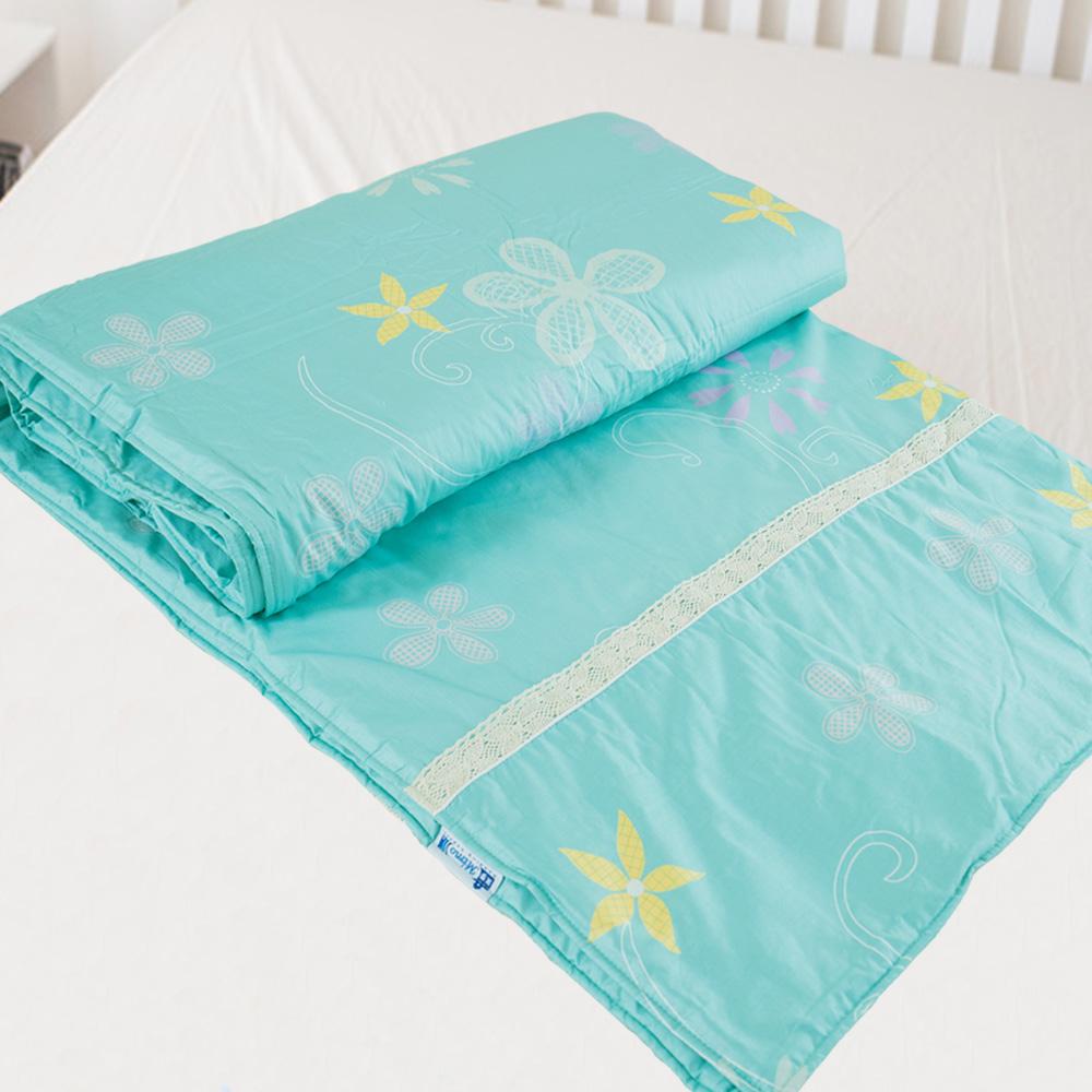 米夢家居-台灣製造-100%精梳純棉兩用被套-花藤小徑-雙人