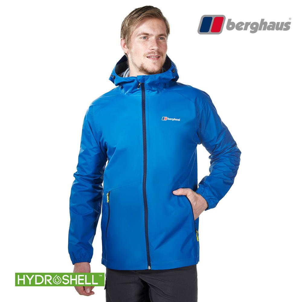 【Berghaus貝豪斯】男款HS輕量防水透氣連帽外套H22MV1潛水藍