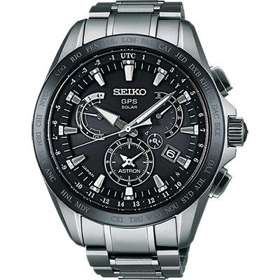 SEIKO ASTRON GPS衛星電波鈦金屬錶(SSE045J1)-黑/45mm