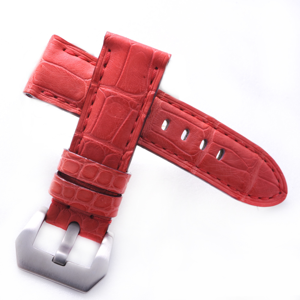 TED SU 太和錶帶 草莓慕斯Panerai 沛納海代用帶桃紅同色線-22*20mm