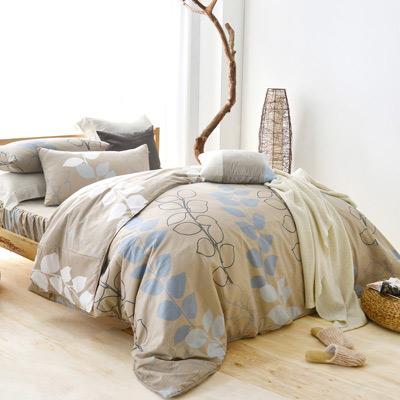 美夢元素 天鵝絨單人三件式 全鋪棉兩用被床包組-帕米拉