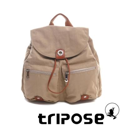 tripose MOVE系列輕休閒翻蓋機能後背包(小) 駝