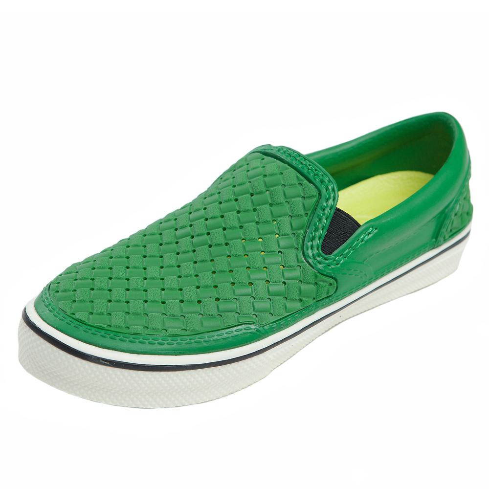 (男/女)Ponic&Co美國加州環保防水編織懶人鞋-綠色