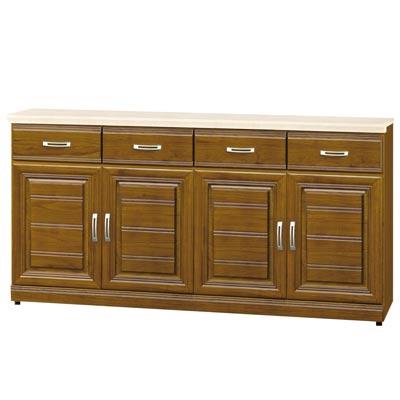 時尚屋-帕爾樟木色實木5-3尺石面餐櫃