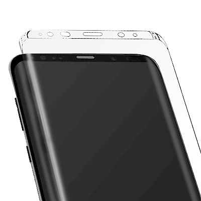 防摔專家Samsung Galaxy Note 8 3D曲面全滿版鋼化玻璃貼(全...