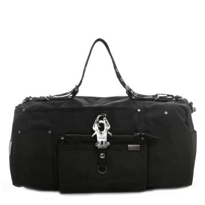 GG&L-OVERNIGHT手提斜背行李袋-槍黑