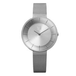 ZOOM FLOATING 光感美學米蘭腕錶-銀/35mm