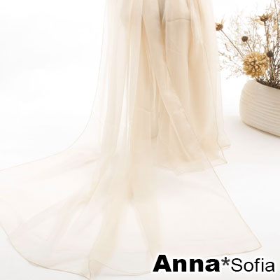 AnnaSofia-韓風純色冰絲-仿真絲加大版披肩