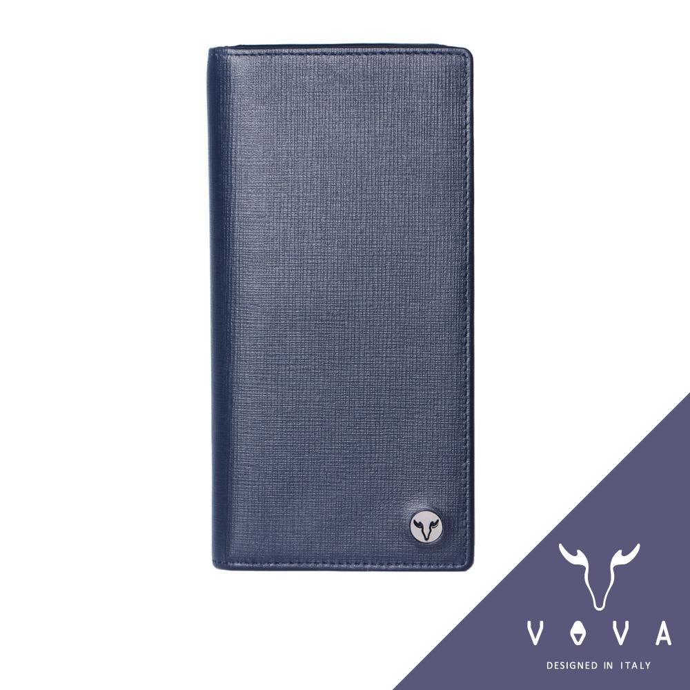 VOVA - 凱旋系列14卡IV紋薄型長夾 - 墨藍色