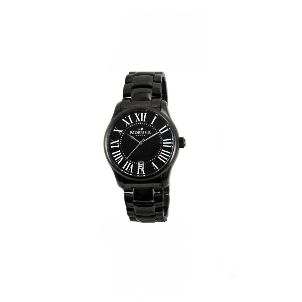 MORRIS K 舞法舞天個性休閒時尚鋼帶腕錶-黑/42mm