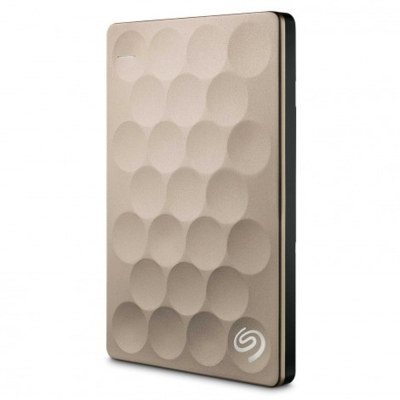Seagate Backup Plus Ultra Slim 2.5吋 1TB外接式行動硬碟-金