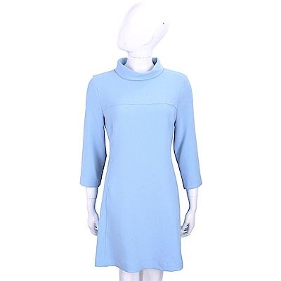ERMANNO SCERVINO 天空藍修身剪裁小立領洋裝