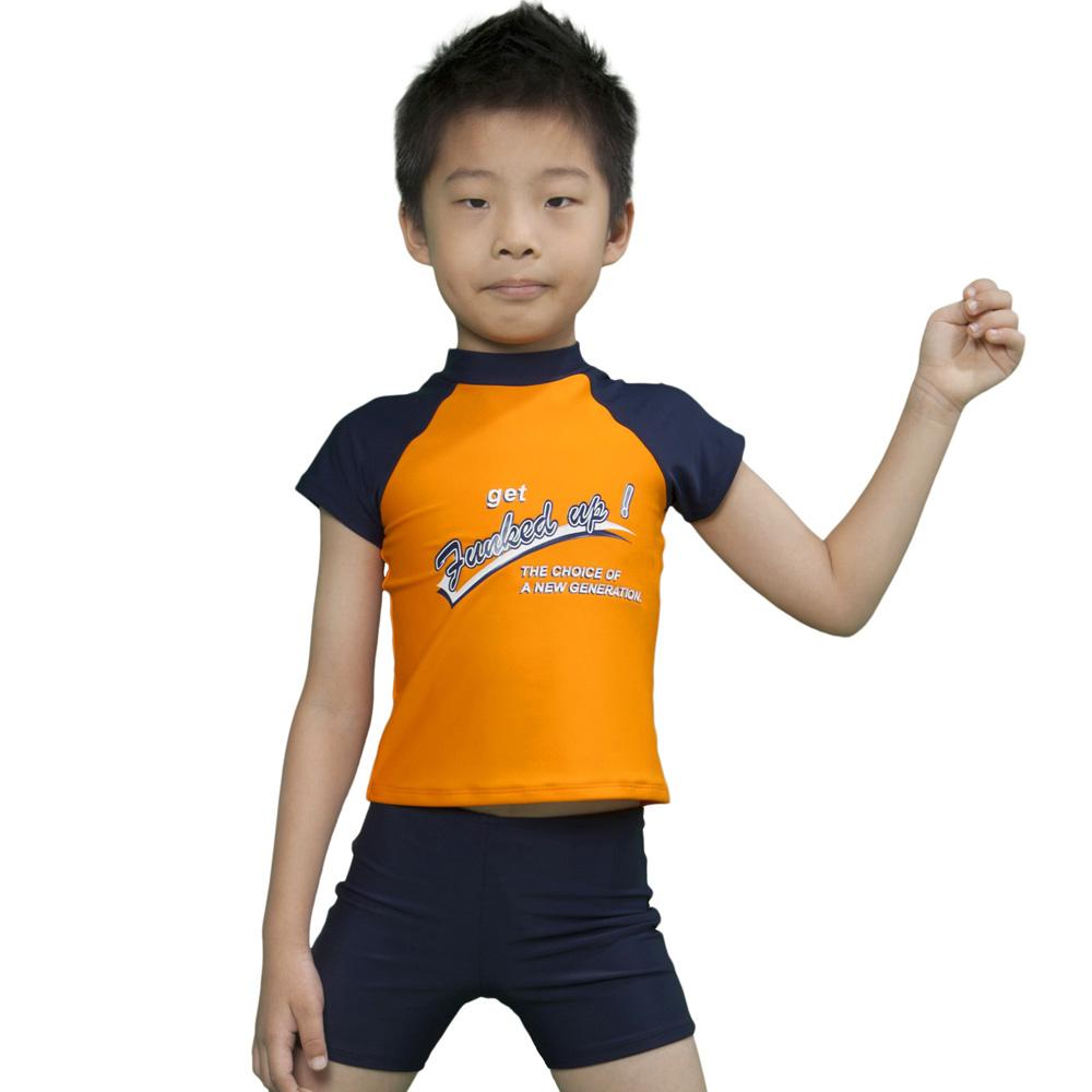 Aquanaut奧可那泳裝 韻動兩件式橘色泳衣