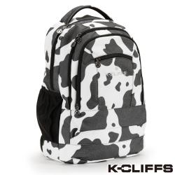 美國K-CLIFFS 乳牛造型後背電腦包(17吋) _黑白